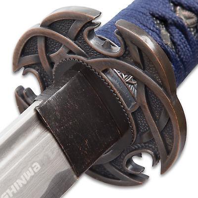 "40"" BLUE KNIGHT Full Tang SAMURAI KATANA SWORD Japanese Ninja Damascus SHARP"