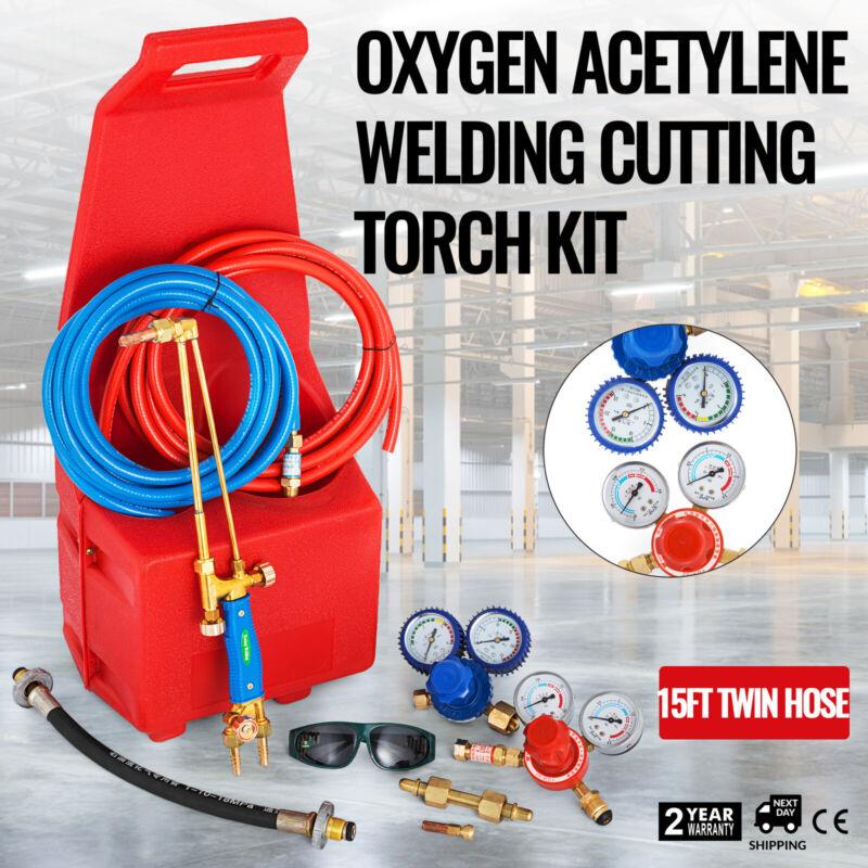 Gas Welding Cutting Kit Oxy Propan Oxygen Torch Brazing Fits 10