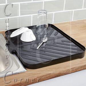 Black Worktop Drainer Tray Sink Draining Board Caravan