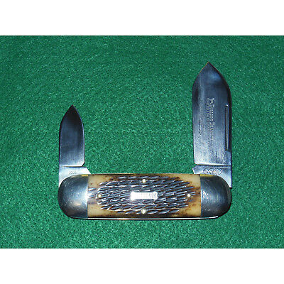GEC #36 Bulldog Sunfish Knife Antique Amber Jig Bone Great Eastern Cutlery 2009