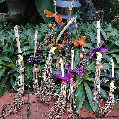 Witch Broom Halloween SMALL for Door or Wall Holiday Decoration Customize - Witches Broom For Halloween
