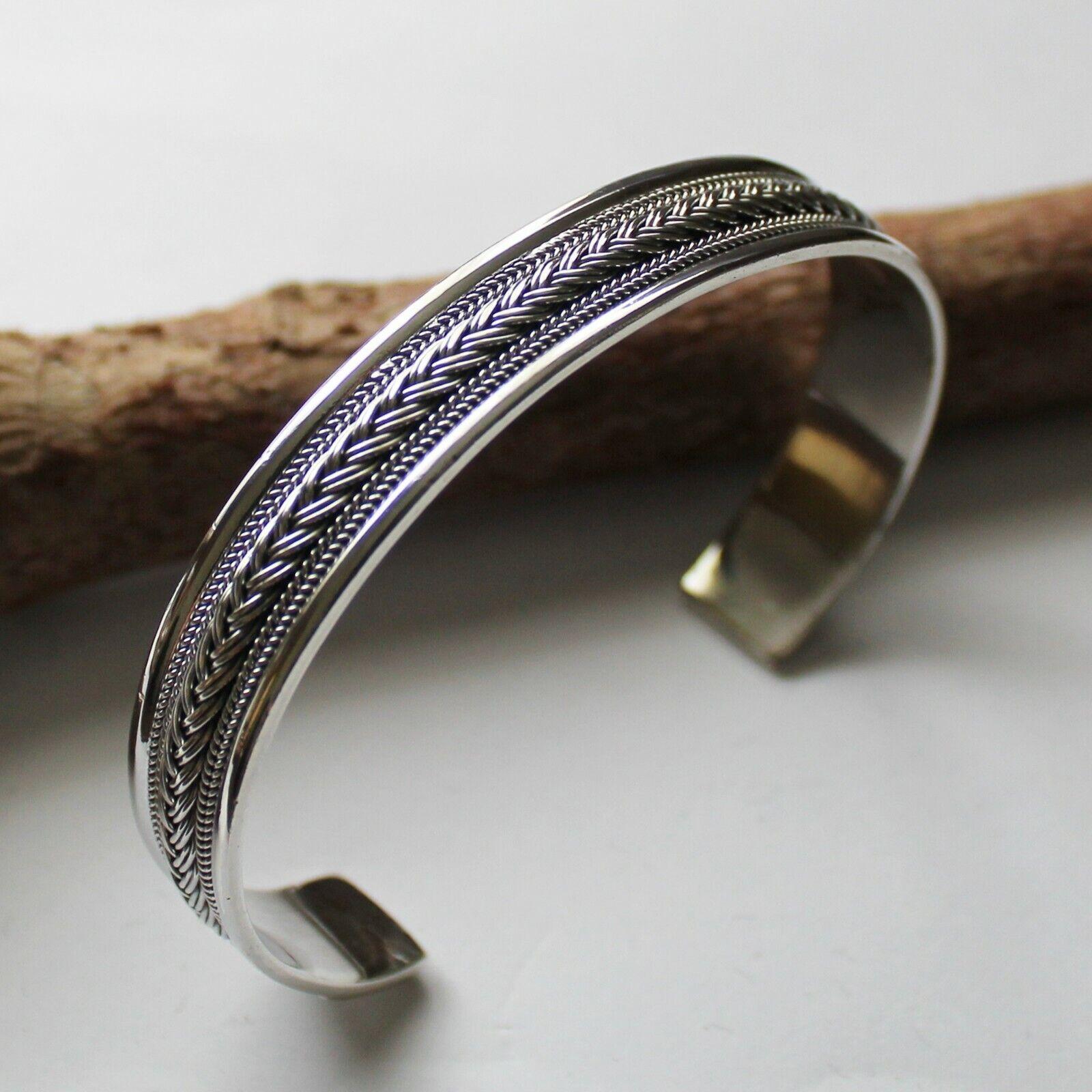 Armreif Silber 925 Bali Flechtmuster Armspange Sterlingsilber Wikinger