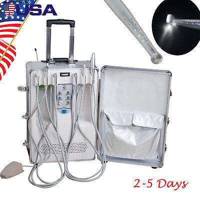 Ups Dental Delivery Unit Case Air Compressor Scaler Curing Light Gift Handpiece