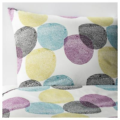 IKEA MALIN RUND Full Queen Duvet Cover & 2 pillowcase 802.249.06 Bedroom Bed NEW