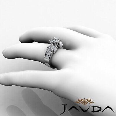 4 Prong Invisible Setting Princess Cut Diamond Engagement Ring GIA I VS2 2.96Ct 3