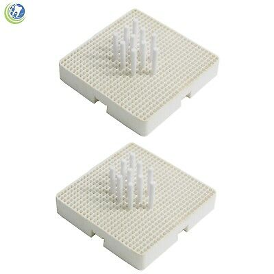 Dental Lab Porcelain Honeycomb Roast Trays Squar Set Of 10 Trays 200 Plastic Tip