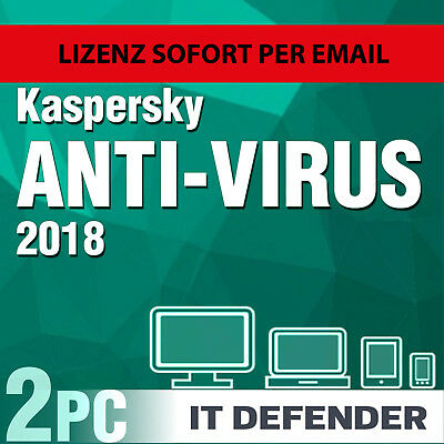 Kaspersky Antivirus Security 2018 2 PC 1 Jahre / Gerät 1  / auch für 2019
