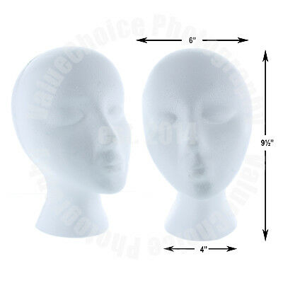Styrofoam Foam Mannequin Wig Head Display Hat Cap Holder White Female Model New
