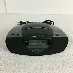 Timex T276B Auto-Set Stereo Alarm Clock Radio Nature Sounds with Battery Backup