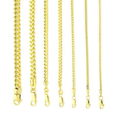 10K Yellow Gold 1.5mm-6mm Square Wheat Box Franco Chain Pendant Necklace - 10k 6mm Box