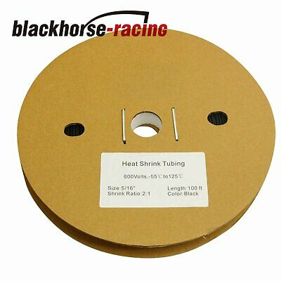 516 100 Ft. 100 Feet 8mm Polyolefin 21 Heat Shrink Tubing Tube Cable 8mm