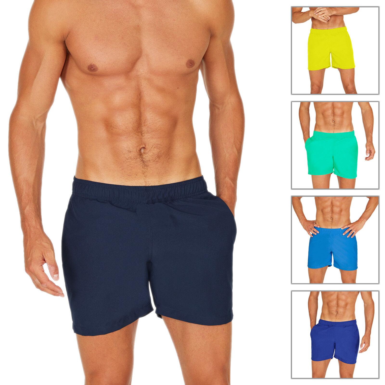 Costume Uomo Da Bagno Mare Boxer Pantaloncino Bermuda Shorts Con Elastico
