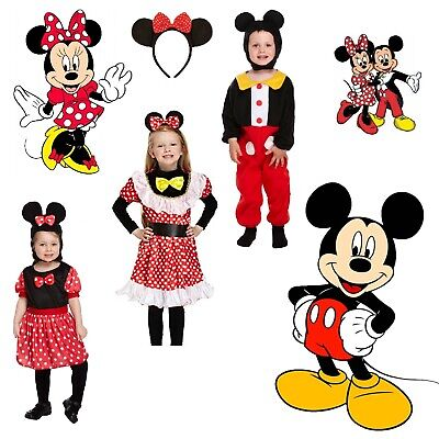 Minnie Mouse Girl Boy Fancy Dress Up Costume Child Mickey Outfit World Book Day