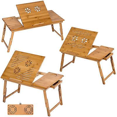 Tavolino pieghevole e portatile da letto per pc notebook tavolo bambù