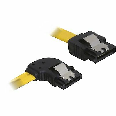 DeLOCK SATA Links/gerade Metall, Kabel, gelb