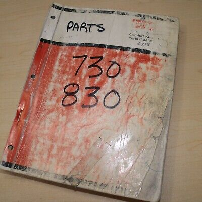 Case 730 830 Tractor Parts Manual Book Catalog Spare List Factory 170 Guide C928