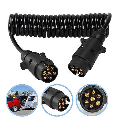 3M Trailer Light Board Extension Cable Lead 7 Pin Plug Socket Caravn Towing Wire