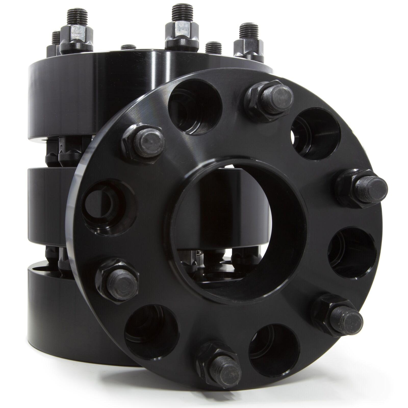 "1.5/"" HUB CENTRIC Black Wheel Spacers 6x135 Ford F150 Raptor 14x2 Coarse Studs"