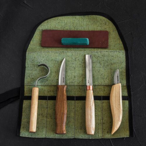 Spoon and Kuksa Carving Professional Set with Knives and Strop BeaverCraft S43
