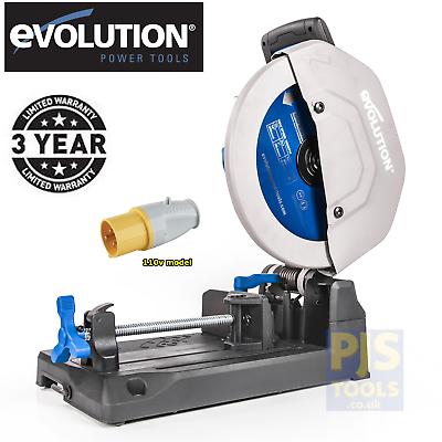 Evolution S355CPS 110v raptor 355mm tct steel cutting saw ch