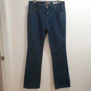 Jag Womens Size 14 High Rise Bootcut Dark Blue Jeans