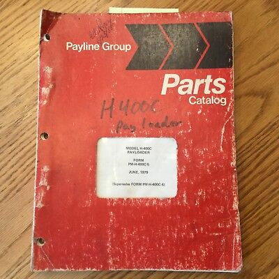 International Hough H-400c Parts Manual Book Catalog Wheel Pay-loader Guide List