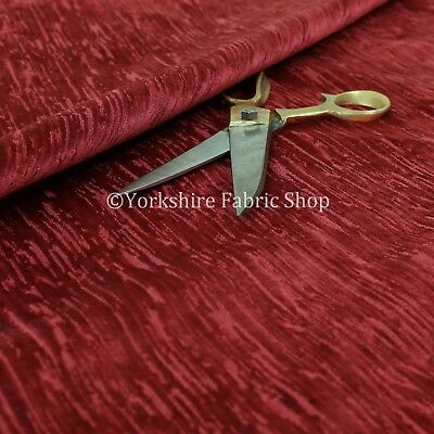 Quality Soft Textured Red Velvet Velour Upholstery Curtains Furnishing Fabric ()
