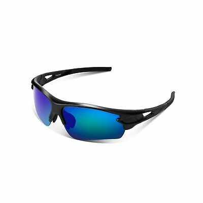 Polarized Sports Sunglasses for Men Women Youth Baseball Fishing Cycling Runn...