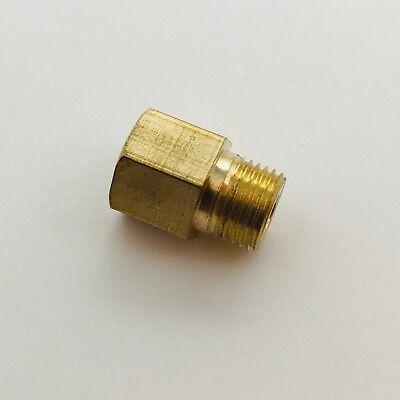 1//8-27 NPT Female to M10 x P1.0 Gauge Sensor Sender Thread Adapter Reducer