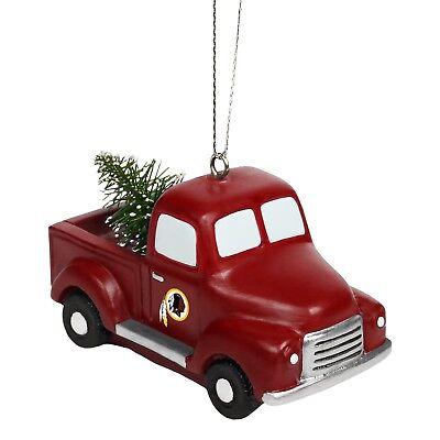 Washington Redskins Truck with Tree Christmas - Tree Holiday Ornament FREE SHIP](Redskins Ornaments)