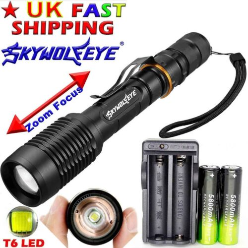 Zoomable 90000 Lumens High Power T6 LED Flashlight Torch lamp 18650 High Power