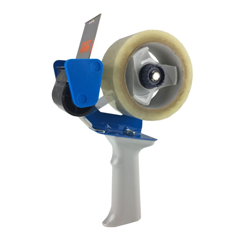 """uBoxes Packing Tape - 2 Rolls 2"""" x 110 yards & Heavy Duty Tape Dispenser"""