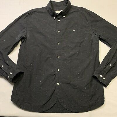 A Kind Of Guise Black Speckled Shirt XL Handmade In Germany of Italian Fabric
