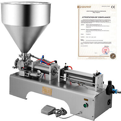 50-500ml Semi-automatic Liquid Paste Filling Machine 110v Cream Hopper Filler