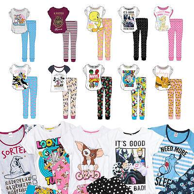 Ladies Pyjama Sets | Womens Official Disney, Cartoon & Superhero Pjs | Size 8-22