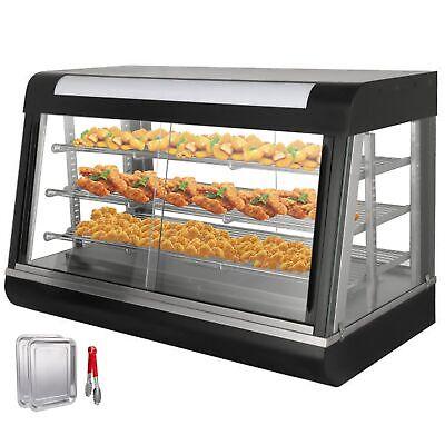 Commercial Food Warmer Display Case Heat Food Pizza Display Warmer Cabinet 3tier