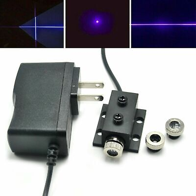 Focusable 405nm 50mw Violetblue Dot Line Cross Laser Module W Adapter Heatsink