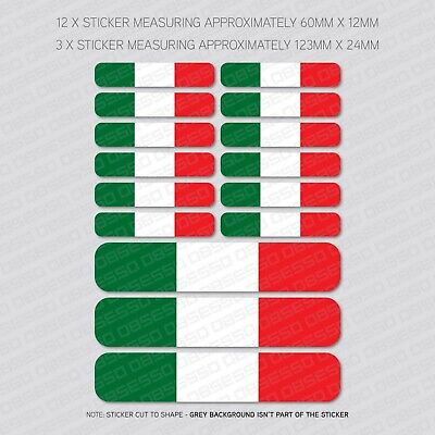 Italian Flag il Tricolore Clip on Charm ~ FREE PP Italy Flag