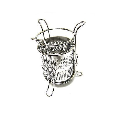 Sanitary Stainless Cylinder Tea Spoon Holder Sterilizable Tea Spoon Rest Storage