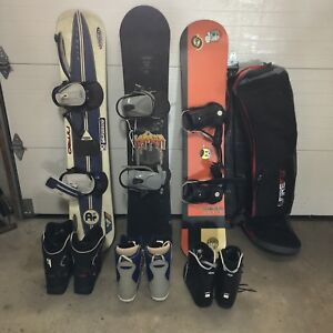 Snowboards, 3 sets with boots, $150 each obo