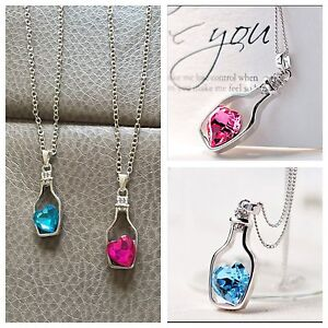 Blue & pink Bottle Pendant Necklace Brand New $10 each Randwick Eastern Suburbs Preview
