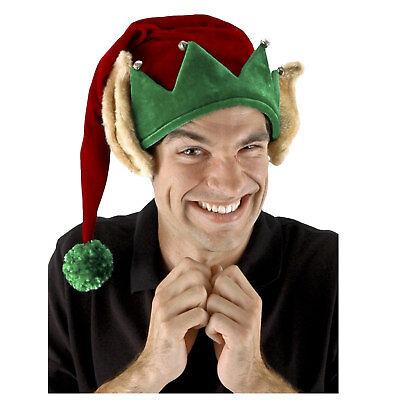 Christmas Felt Santa Elf Helper Ears Red Green Stocking Costume Holiday Cap Hat - Christmas Elf Ears