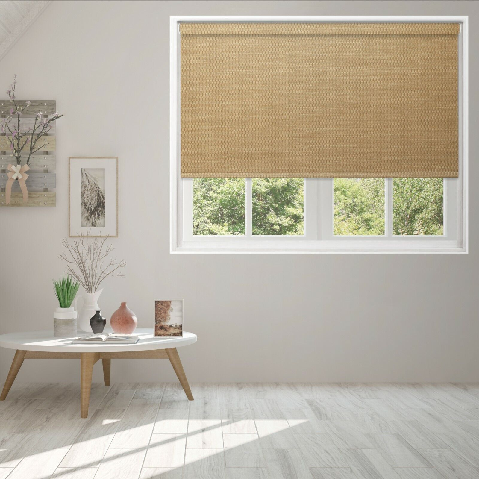Bamboo Natural Woven Window Blind Roller Shade with Cassette