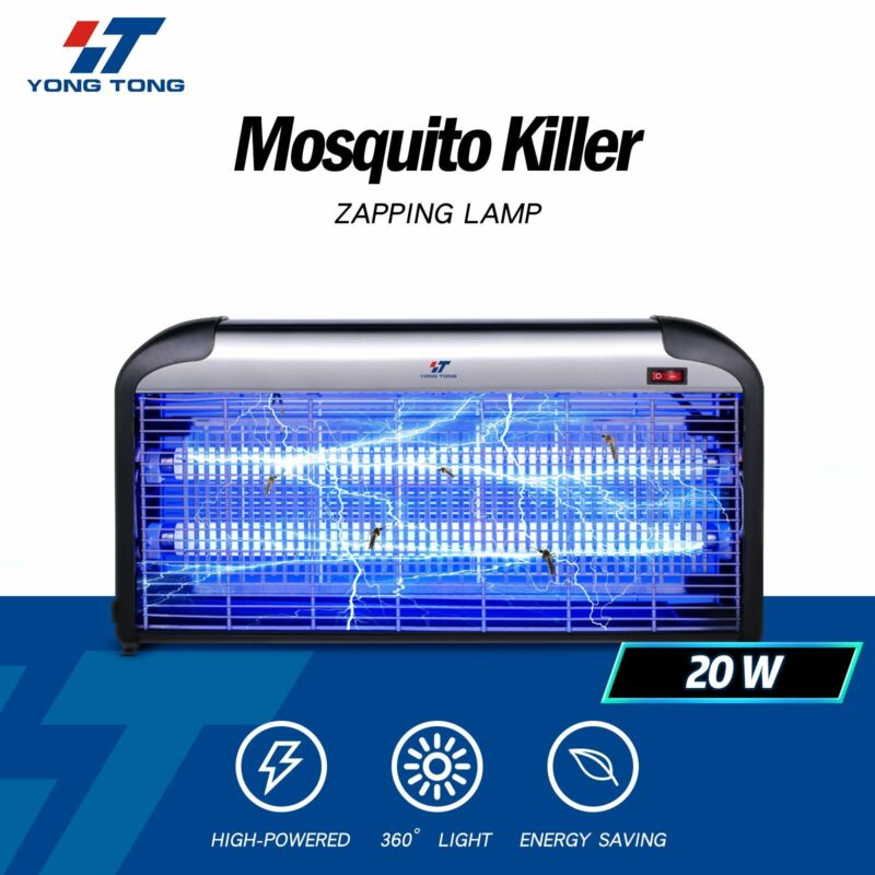 30W UV Light Lamp Electric Bug Zappers Insect Killer Fly Moth Mosquito Killer