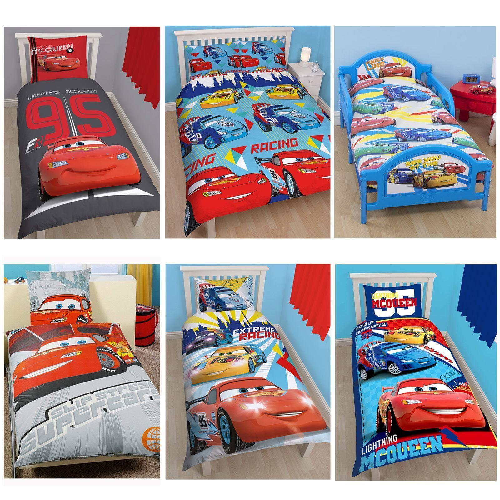 Lightning Mcqueen Bedroom Accessories Disney Cars Duvet Covers Single Double Amp Junior Bedding