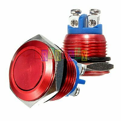 19mm Red Water Proof Starter Switch Boat Horn Momentary Button Stainless Steel