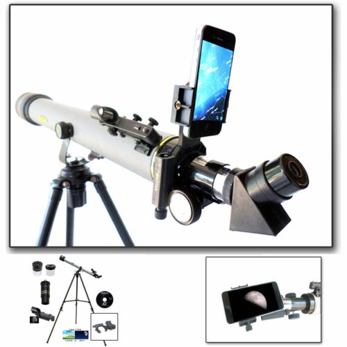 Brand NEW Cassini 800mm x 60mm Astronomical Telescope w/ Smartphone Adapter