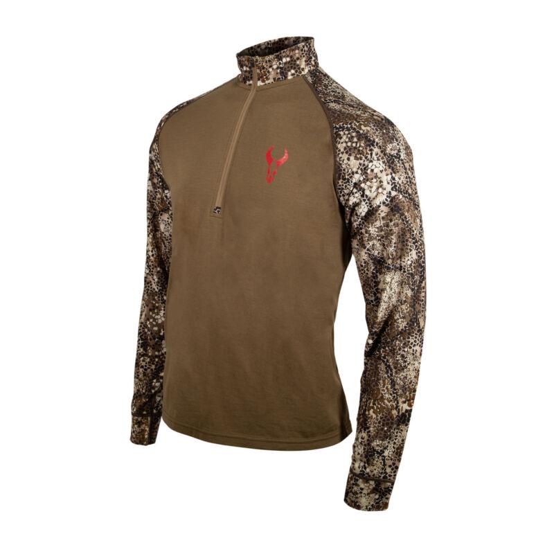 Badlands Seal 1/4 Zip Long Sleeve Shirt (Medium, Approach FX)