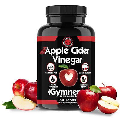 Weight Loss Apple Cider Vinegar w. Garcinia Pills ACV & CLA Fat Burner, 60 ct