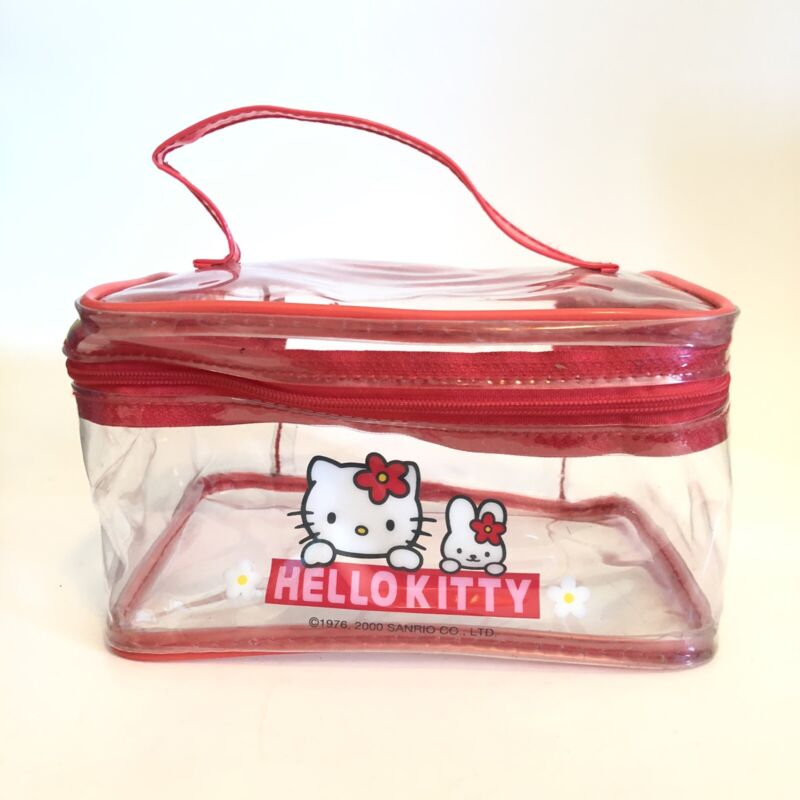 Sanrio Hello Kitty 2000 Clear & Red Bag